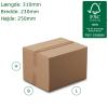 Kraftige A4 papkasser 310x230x250mm. Tykkelse 7mm