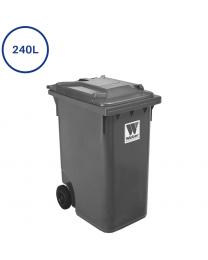 240 liters affaldscontainer i  grå
