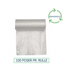 Transparent affaldsæk