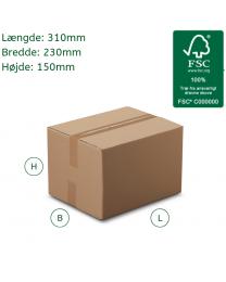 Kraftig papkasse i A4 størrelse