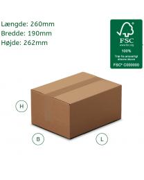 Små papkasser til forsendelse