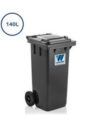 grå 140 liters affaldscontainer