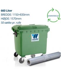 660L Transparente containersække 1150+830x1570mm