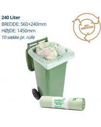 Affaldssæk til bio-affald  240 liter