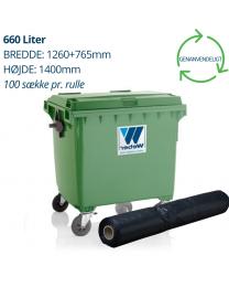Containerforing 660 liter længde 1400 mm.