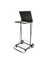 110L rustfri stål affaldsstativ m/ låg & pedal