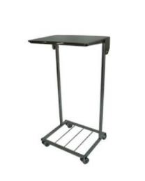 110L rustfri stål affaldsstativ m/ låg