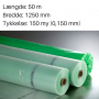 Grøntonet dampspærrefolie 1250 mm x 50m. 150 my
