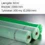 Grøntonet dampspærrefolie 2000 mm x 50m. 200 my
