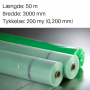 Grøntonet dampspærrefolie 3000 mm x 50m. 200my