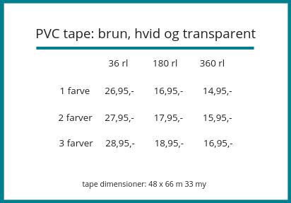 Logo tape - Emballagegrossisten
