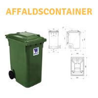 Grøn affaldscontainer